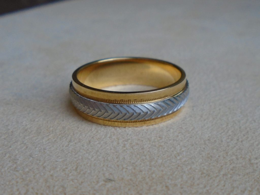 Men's 18kt. Gold & Platinum Ring
