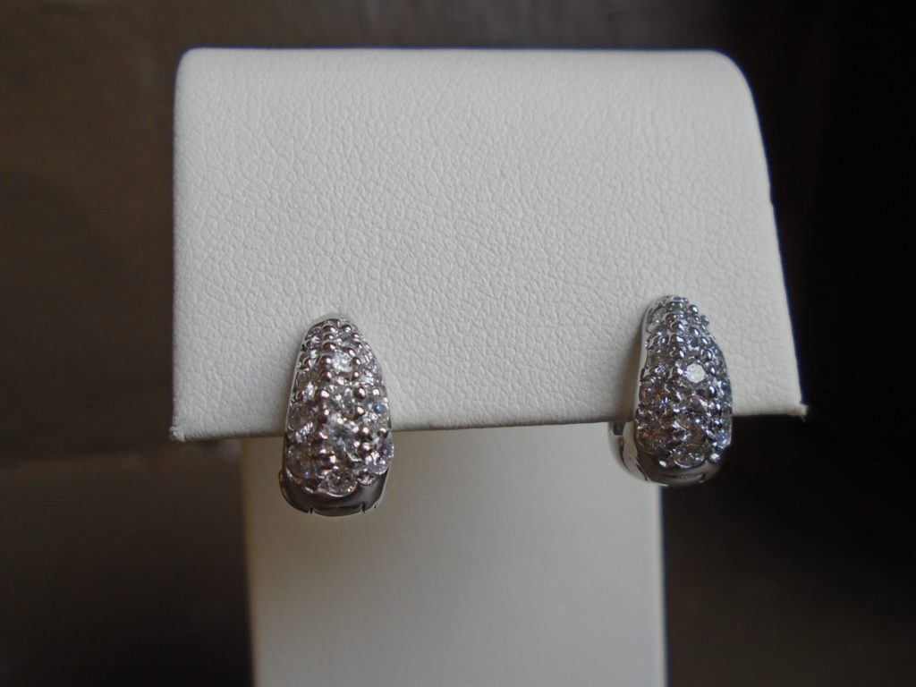 "18kt. White Gold ""Huggie"" Earrings"