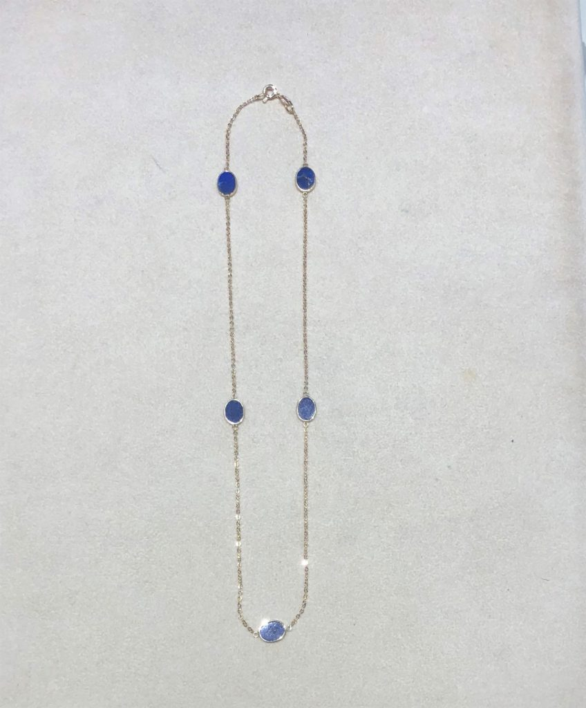 Gold & Lapis Necklace
