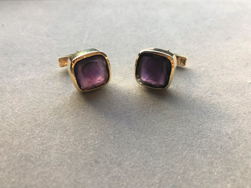 Men's Amethyst Cuvee Cufflinks
